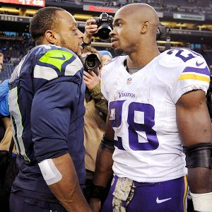 Percy Harvin and Adrian Peterson