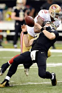 Ahmad Brooks and Drew Brees
