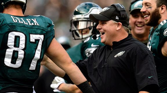 Kelly's Eagles soar to NFC East lead