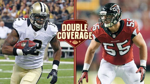 Marques Colston and Paul Worrilow