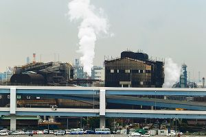 Oil refinery in Kawasaki, southwest of Tokyo