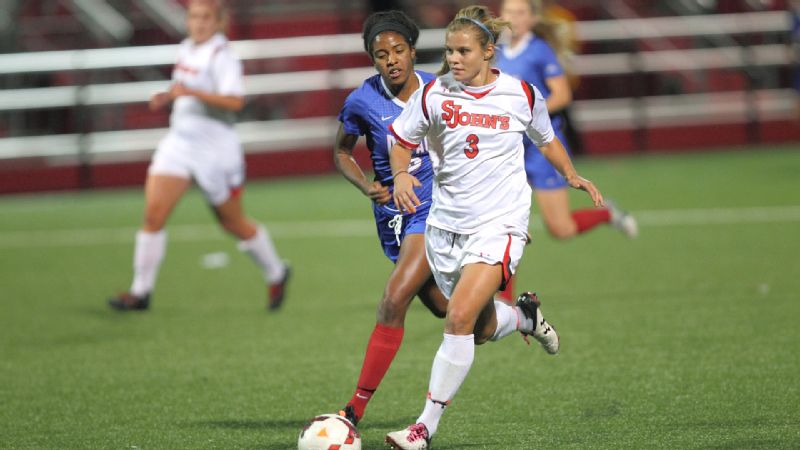 Rachel Daly leads Division I players with 23 goals, and was the first player named both Big East offensive player of the year and top newcomer.