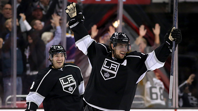 Anze Kopitar #11 of the Los Angeles Kings