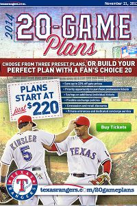 Texas Rangers Ticket