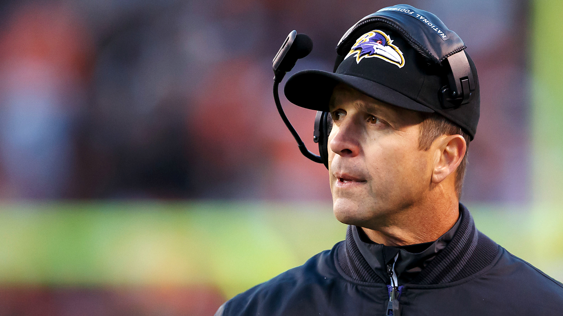 Baltimore Ravens head coach John Harbaugh clocks long ...