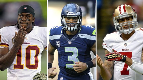 Robert Griffin III, Russell Wilson, and Colin Kaepernick