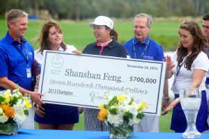 The LPGAs season ended with Shanshan Feng winning the CME Group Titleholders and a hefty 700,000 paycheck.