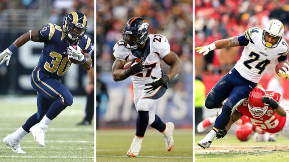 Zac Stacy, Knowshon Moreno and Ryan Mathews