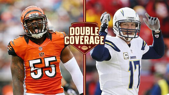 Vontaze Burfict and Philip Rivers