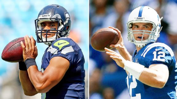 Russell Wilson and Andrew Luck