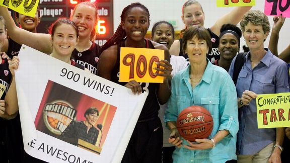 Coach Tara VanDerveer and her Team on 900