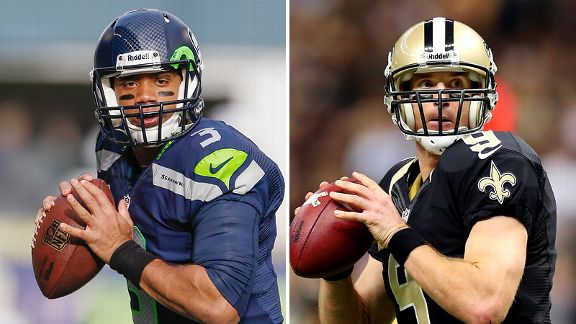 Russell Wilson and Drew Brees