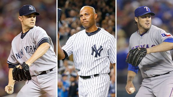 David Robertson, Mariano Rivera and Joe Nathan