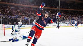 Rangers' Kreider returns in loss, cites rust