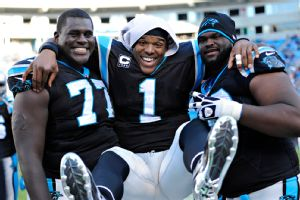 Byron Bell, Cam Newton and Nate Chandler.