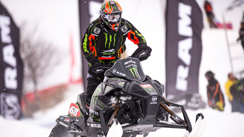 Tucker Hibbert got his season off to a fast start, winning both Pro Open races in the AMSOIL Championship Snocross season opener in Duluth, MN, including lapping the entire field in Saturday's race.