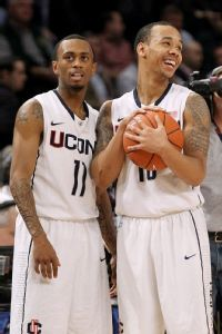 Ryan Boatright #11 and Shabazz Napier