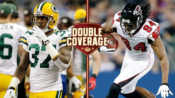 Roddy White and Sam Shields