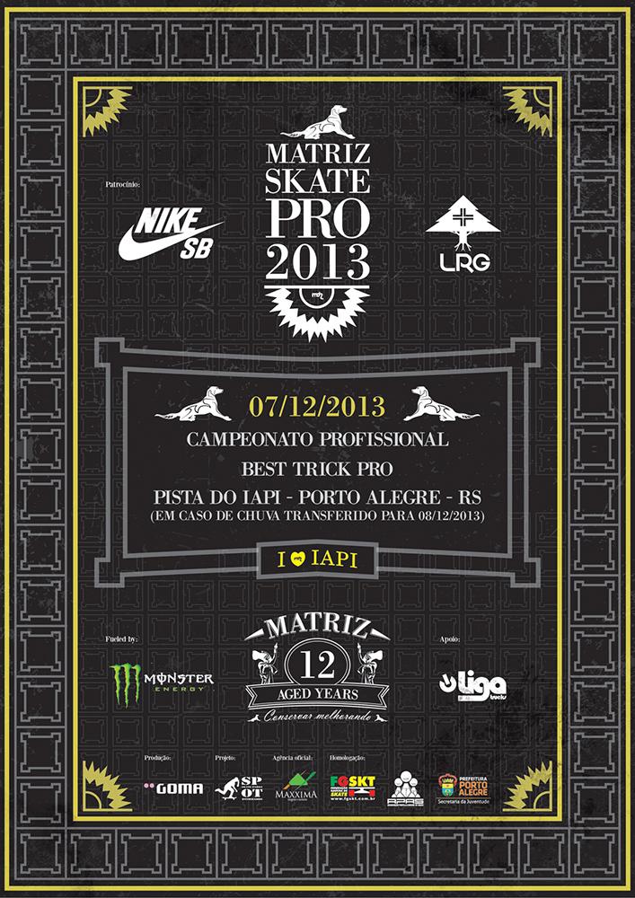 Matriz Skate Pro 2013