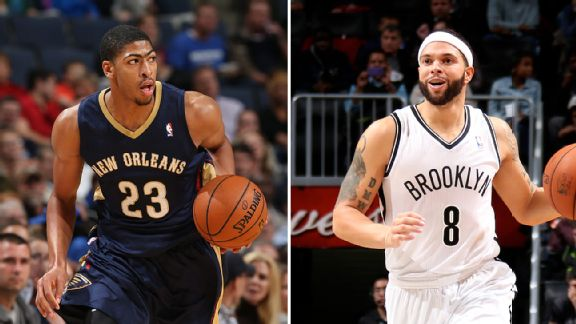 Anthony Davis and Deron Williams