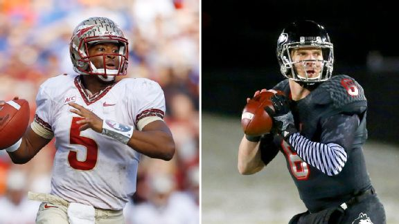 Jameis Winston and Jordan Lynch
