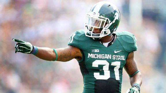 Darqueze Dennard fell just short of the top spot in the 2013 Big Ten final player countdown, but the Michigan State cornerback was one of six Spartans that made the cut, the most of any school.