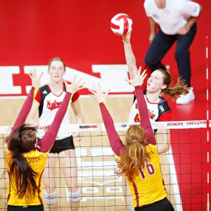 Kadie Rolfzen hammered 341 kills during the regular season, second-most for the Huskers.