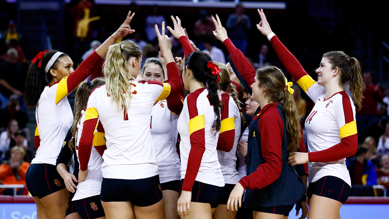 Like the Hunger Games, the NCAA volleyball tournament has action, love, rivalries -- and occasional violence, such as a spike to the face.