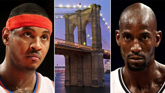 Kevin Garnett, Brooklyn Bridge, Carmelo Anthony