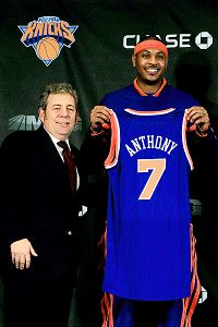 Jim Dolan, Carmelo Anthony