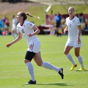 Florida State's Iceland connection, Berglind Thorvaldsdottir (left) and Dagny Brynjarsdottir, has combined for 21 goals and eight assists this season.