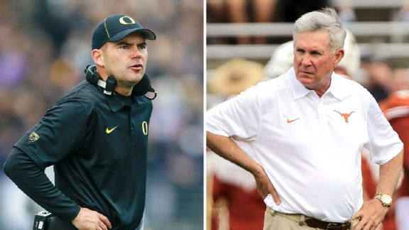 Mark Helfrich and Mack Brown