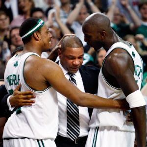 Doc Rivers, Paul Pierce and Kevin Garnett
