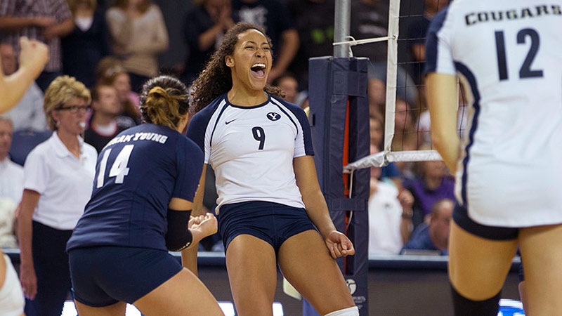 BYU sophomore Alexa Gray had a big weekend, combining for 40 kills as the Cougars took down Arizona State and Hawaii.