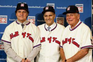 Tony La Russa, Joe Torre and Bobby Cox