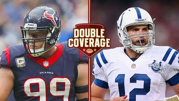 J.J. Watt and Andrew Luck