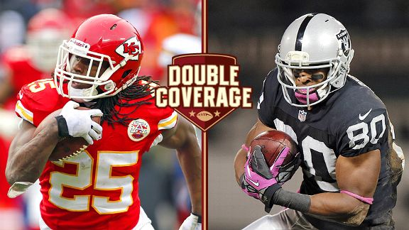 Jamaal Charles and Rod Streater