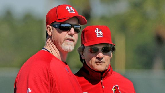Mark McGwire and Tony La Russa