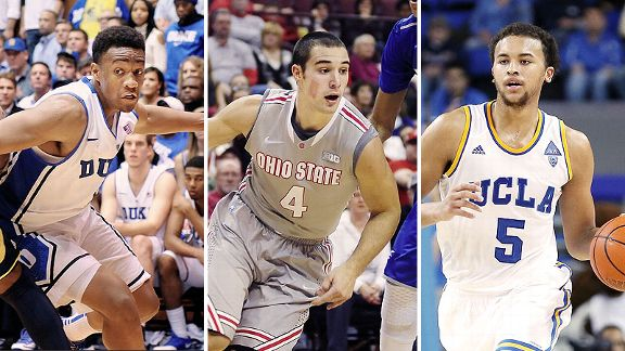 Jabari Parker, Aaron Craft and Kyle Anderson