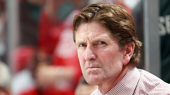 Head coach Mike Babcock of the Detroit Red Wings