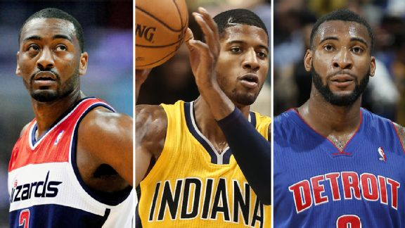 John Wall, Paul George, and Andre Drummond