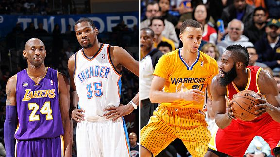 Bryant & Durant & Harden & Curry