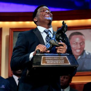 Just like the Heisman voting, Jameis Winston was a landslide winner in AP player of the year voting, receiving 49 out of 56 votes cast by AP Top 25 college football poll voters.