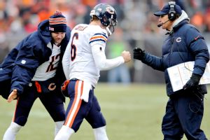 Chicago's Josh McCown and Jay Cutler