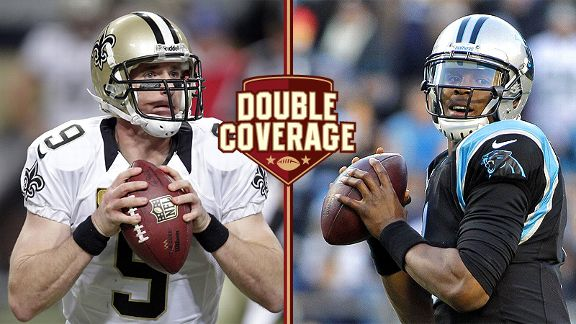 Drew Brees and Cam Newton