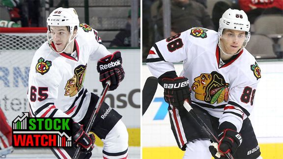 Andrew Shaw and Patrick Kane