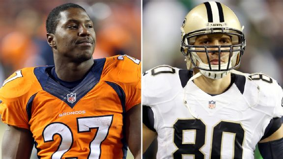 Knowshon Moreno and Jimmy Graham