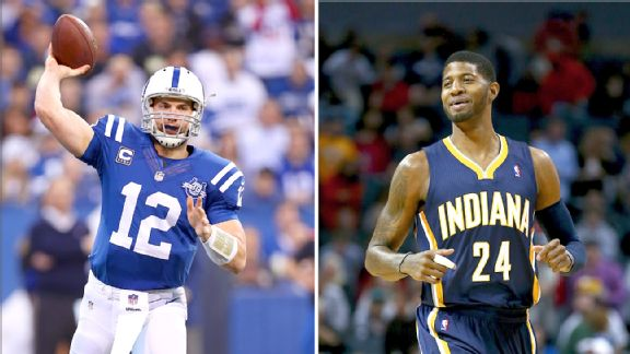 Andrew Luck and Paul George