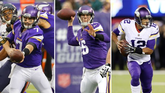 Christian Ponder, Matt Cassel, and Josh Freeman