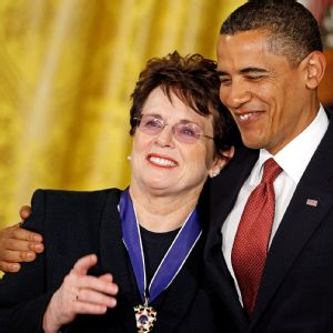 Billie Jean King, Barack Obama